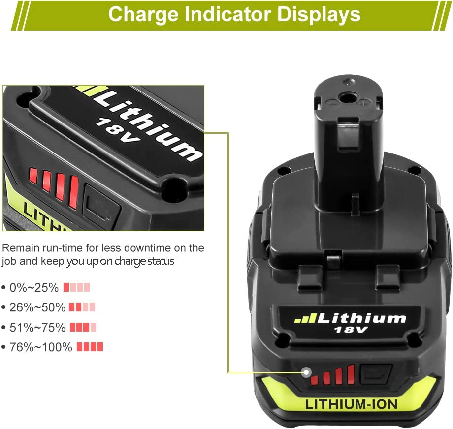 3.0Ah for Ryobi 18V Lithium-ion ONE Plus Battery P102 P103 P104 ...