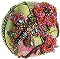 Mary Frances Damsel In Flight Green & Pink Dragonfly Convertible Clutch Handbag