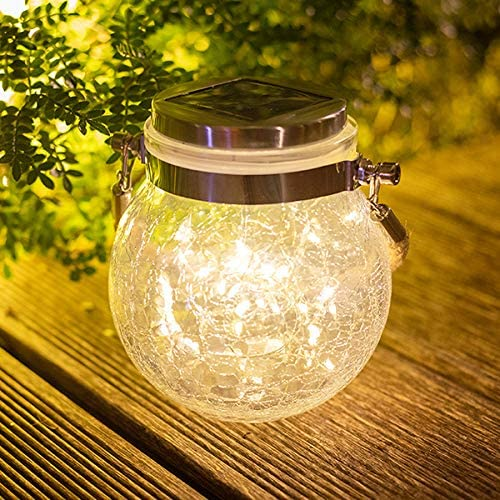 hmercy Solar Lights Outdoor Decorative – LED Solar Powered Fairy Landscape Tree Lights Beautiful Solar Flower Lights