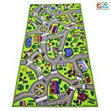 ToyVelt Kids Carpet Playmat Car Rug - City Life Educational Road Traffic Carpet Multi Color Play Mat - Large 60