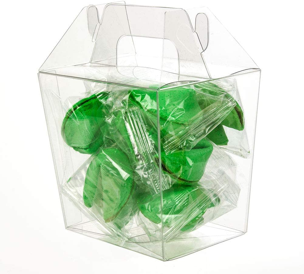 Upscale Gable Style Clear Take-Out Box | 25 Quantity | Large - Size: 4 13/16