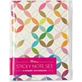 Erin Condren Designer Desk Accessories - Mid Century Circles Sticky Note Booklet. Sophisticated, Metallic, Multicolored Desig