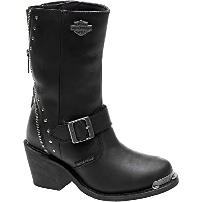 Harley-Davidson Women's Rosanne 8-Inch WP Motorcycle Boots D87127 (Black,  ...
