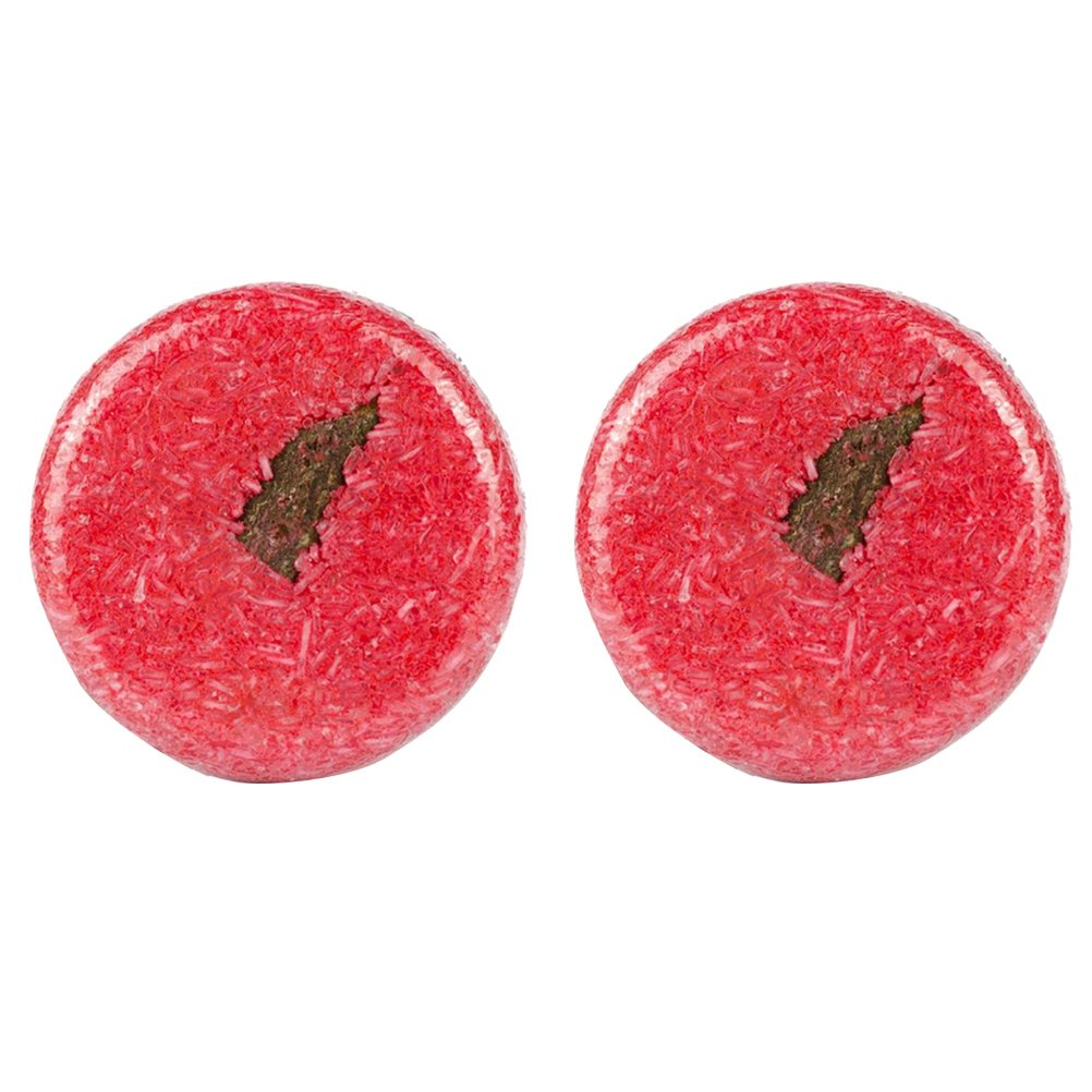Frcolor Cinnamon Mint Bath Bar Soap Shampoo Bar Soap Hair Growth Handmade Soap Bar for Hair Loss Cleaning (Red) 2PCS