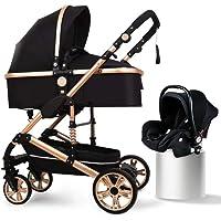 B.Childhood Baby Stroller Set Portable Anti-Shock Luxury for Newborn Infant Cradle Convert to Bassinet Car Seat Basket 0…
