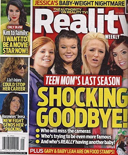 Catelynn Lowell, Amber Portwood, Maci Bookout & Farrah Abraham (Teen Mom) - July 16, 2012 Reality Weekly