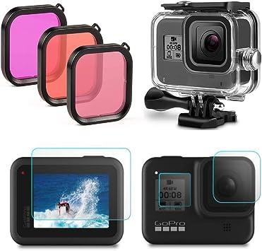 oobest Filtros de 6 Colores para el Filtro de correcci/ón de Color a Prueba de Agua submarina GoPro Hero 5 bajo el Agua