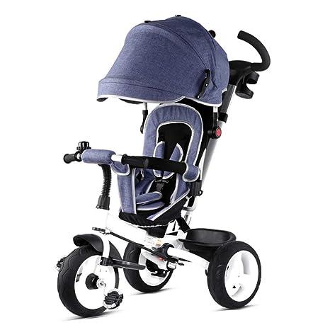 TH - Triciclo Baby Triciclo para Niños Carro De Bebe, 4 En 1 Plegable con