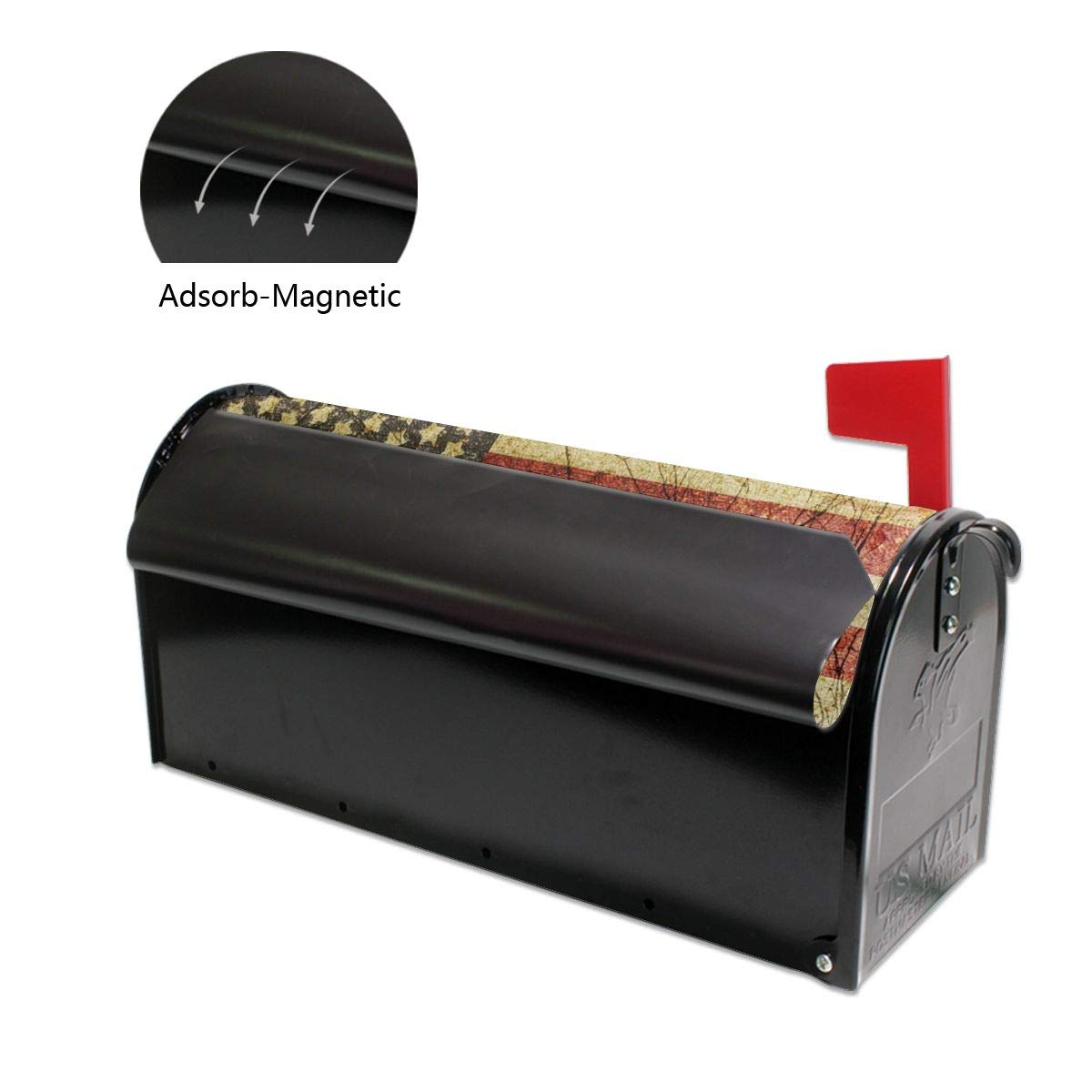 ShowRoom16 Custom Personalized Family Name Address Maibox Covers Wraps Magnetic Standard Mailbox Cover 21 x 18 inches