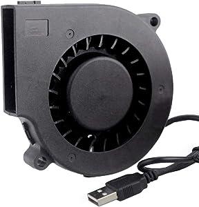 Wathai 75mm x 15mm 5V USB DC Brushless Turbo Cooling Blower Fan