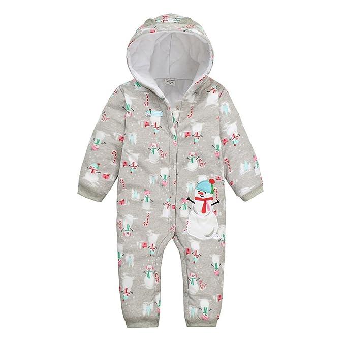 Bebé Unisex invierno algodón Pelele de manga larga Navidad muñeco de nieve de disfraces/pijamas Gris gris: Amazon.es: Ropa y accesorios