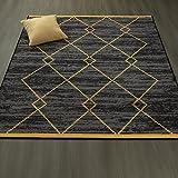 Ottomanson Studio Collection Diamond Trellis Design Area Rug, 5'0″ X 6'0″, Gray & Yellow For Sale