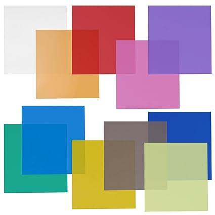 Amazoncom Neewer 12x12 Transparent Color Gel Filter Set Pack Of