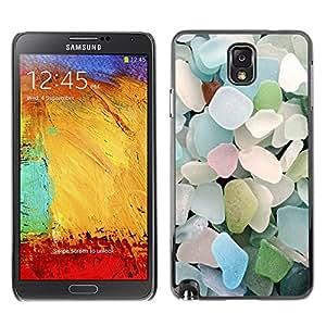 GOODTHINGS Funda Imagen Diseño Carcasa Tapa Trasera Negro Cover Skin Case para Samsung Note 3 N9000 N9002 N9005 - playa de cristal azul del verano en colores pastel