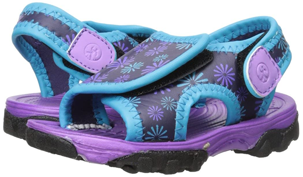 5 M US Toddler Toddler//Little Kid Purple//Aqua Northside Haller Fisherman Sandal