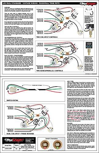 Gitarren-Verkabelungs-Kit, für Les Paul Standard, Push/-Pull ...