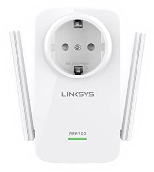 Linksys RE6700-EG - Extensor de Red Wi-Fi de Doble Banda AC1200 Amplify