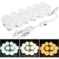Phoneix LED Vanity Mirror Lights Kit, Hollywood Make-up Mirror Light with USB Charge 12 Dimmable Light Bulbs for Dressing Table Full-Length Mirror
