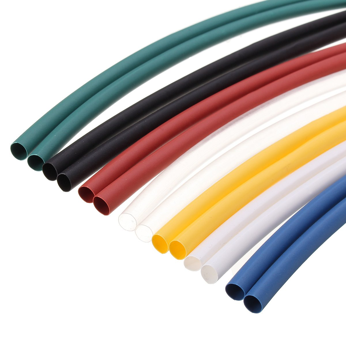 Heat Shrink Tubing, 70pcs 2:1 Heat Shrink Tubing,Wire Cable Wrap Electrical Insulation Tube Electric Insulation Tube - For Automotive, Household, Audio, Video Applications (7 Color)