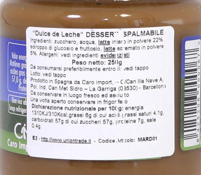 Crema de caramelo de leche, vidrio 250g - Dulce de Leche Clásico MARDEL 250g: Amazon.es: Alimentación y bebidas