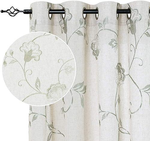 jinchan Linen Textured Curtains Review