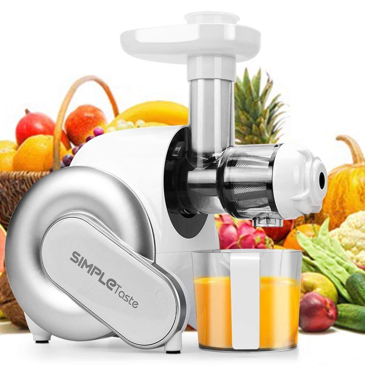 SimpleTaste Licuadoras Para Verduras y Frutas,Licuadora de Prensado en Frío con Función inversa,