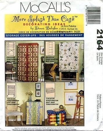 Amazon.com: McCall\'s 2164 Home Decor Pattern - Storage Cover-Ups ...