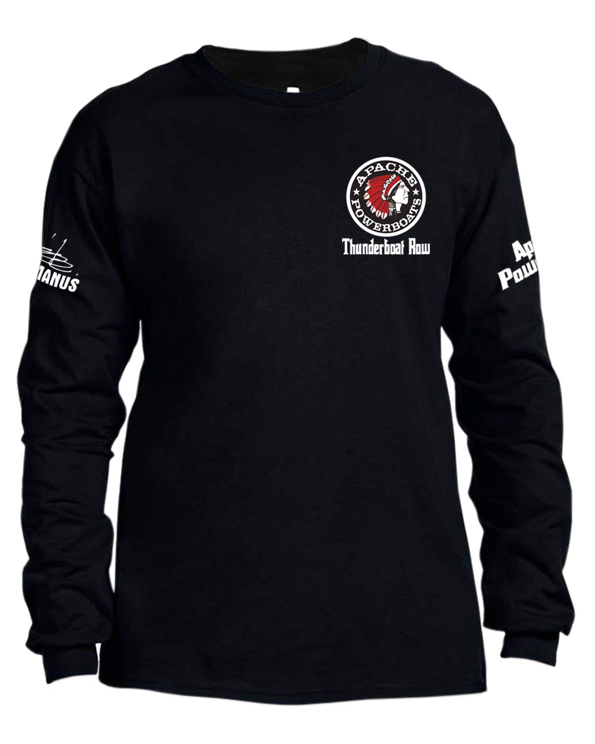 Apache Powerboats Limited Edition Thunderboat Row Long Sleeve T-Shirt (X-Large) Black by Apache Powerboats