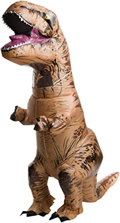 Amazon.com: Rubies Mens Jurassic World T-Rex Inflatable ...