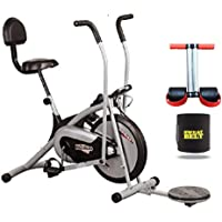 HEALTHEX HX300 Fitness Bike Platinum with Back SEAT and Twister || Moving Handle || with Free Installation Assistance
