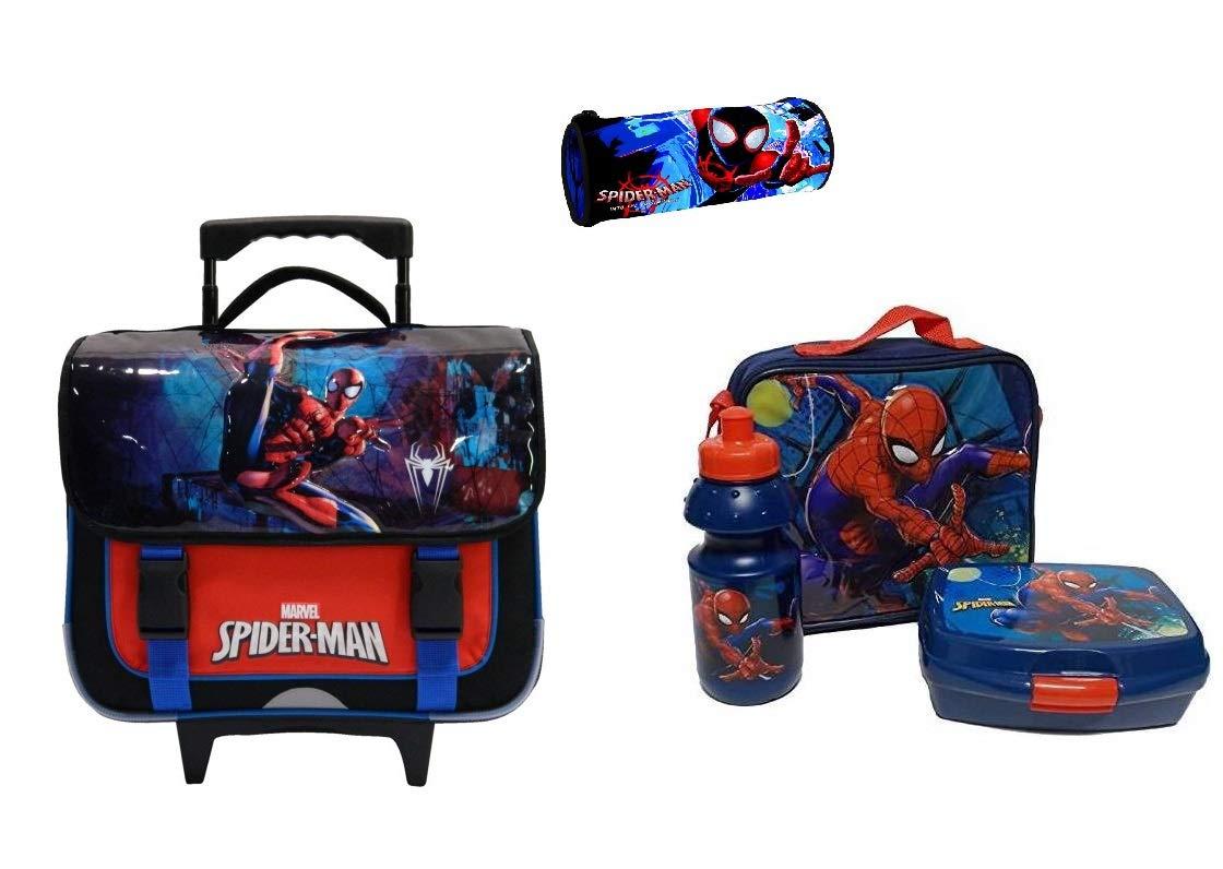 Trousse Scolaire kidparadise Cartable Trolley Set /à gouter Spiderman