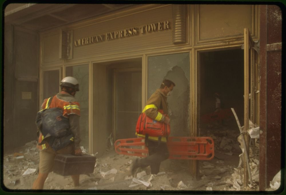 Amazon com: Historic Photos 2001 Photo Two rescue workers