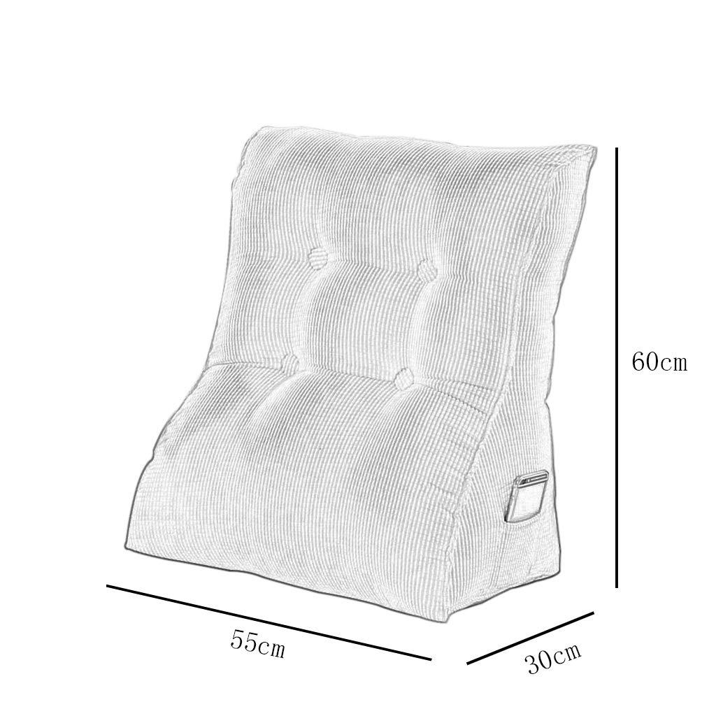 DUHUI Bett Wedge, Wedge, Wedge, Wedge für Wohnzimmer und Schlafzimmer, Sleeping Wedge, zur Entlastung der Wirbelsäule, Stillkissen zum Liegen und Sitzen (Farbe   Gelb, größe   60x55x30cm) B07JZH1LKF Kissen Ausgezeichnete Qualität 25e8b8