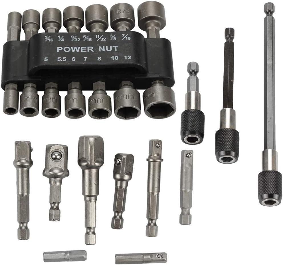 Qty 1 Nut Setter 5//16 x 150mm Impact Socket Hex Drive Magnetic Nutsetter