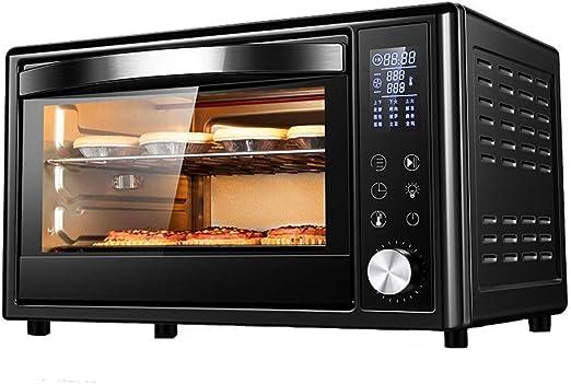 Mini horno eléctrico de precisión control de temperatura 0-230 ° c, tiempo 1500W horno de tres capas con iluminación (32L): Amazon.es: Hogar