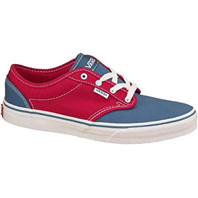 Vans Atwood Canvas Rouge-Bleu marine - Chaussures Chaussures de Skate Femme