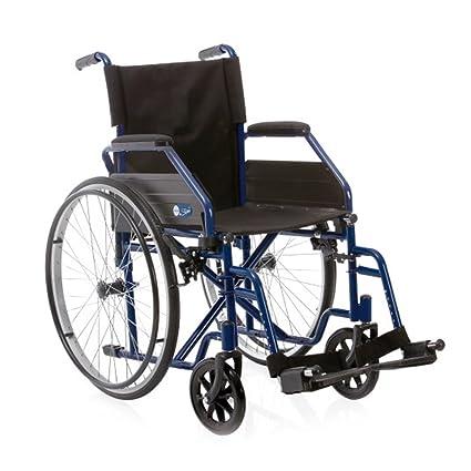Silla de ruedas plegable–Silla para discapacitados ...