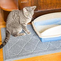 Easyology Premium Cat Litter Mat, XL Super Size, Light Gray