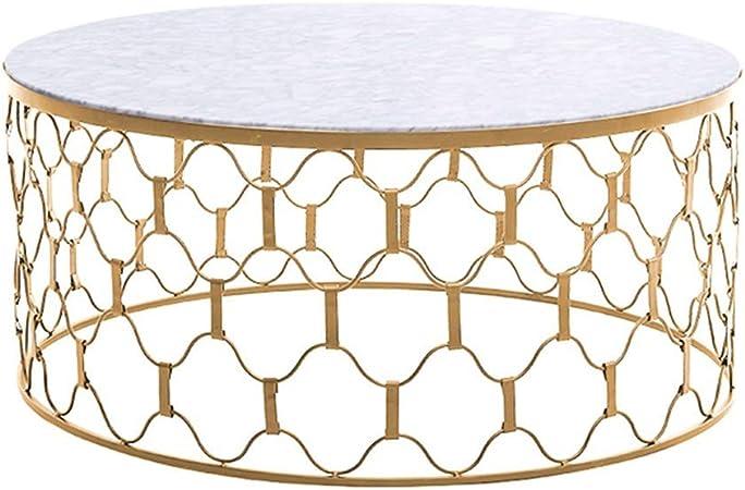 Table Basse Salon Table Basse Doree Ronde En Fer Forge Creative