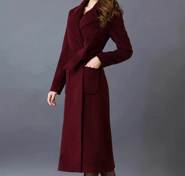 Winter Wool Coat Women Warm Cardigan Outcoat Hot Long Slim Brief Womens Wool Coats