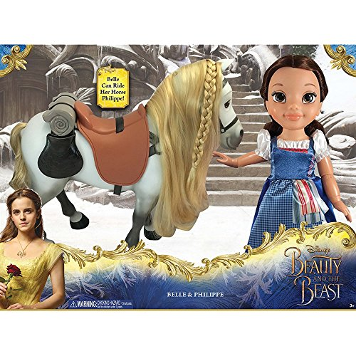 (Disney Beauty and the Beast Princess Belle and Philippe/Horse Doll Set)