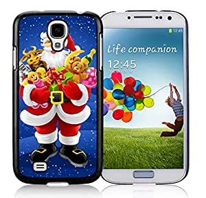 Samsung S4 Case,Christmas Santa Claus Animal Gifts Black Silicone Phone Case Fit Samsung Galaxy S4 Case,Galaxy S4 I