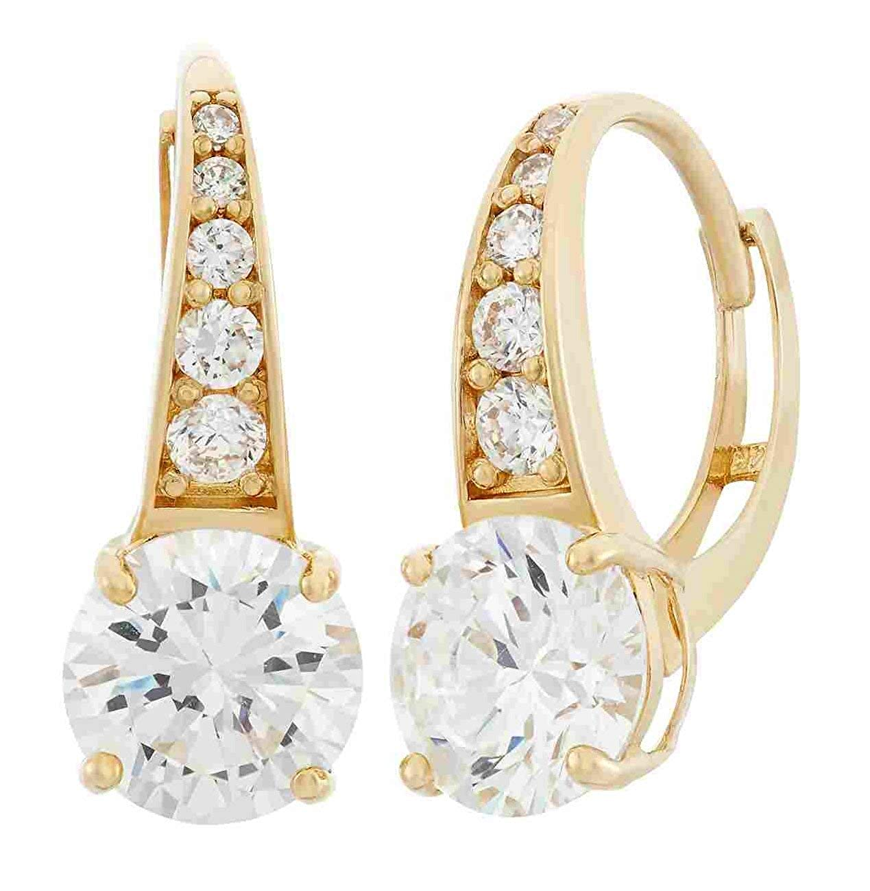 a20ba0630 Amazon.com: 10k Yellow Gold Round Basket Leverback Earring: Jewelry