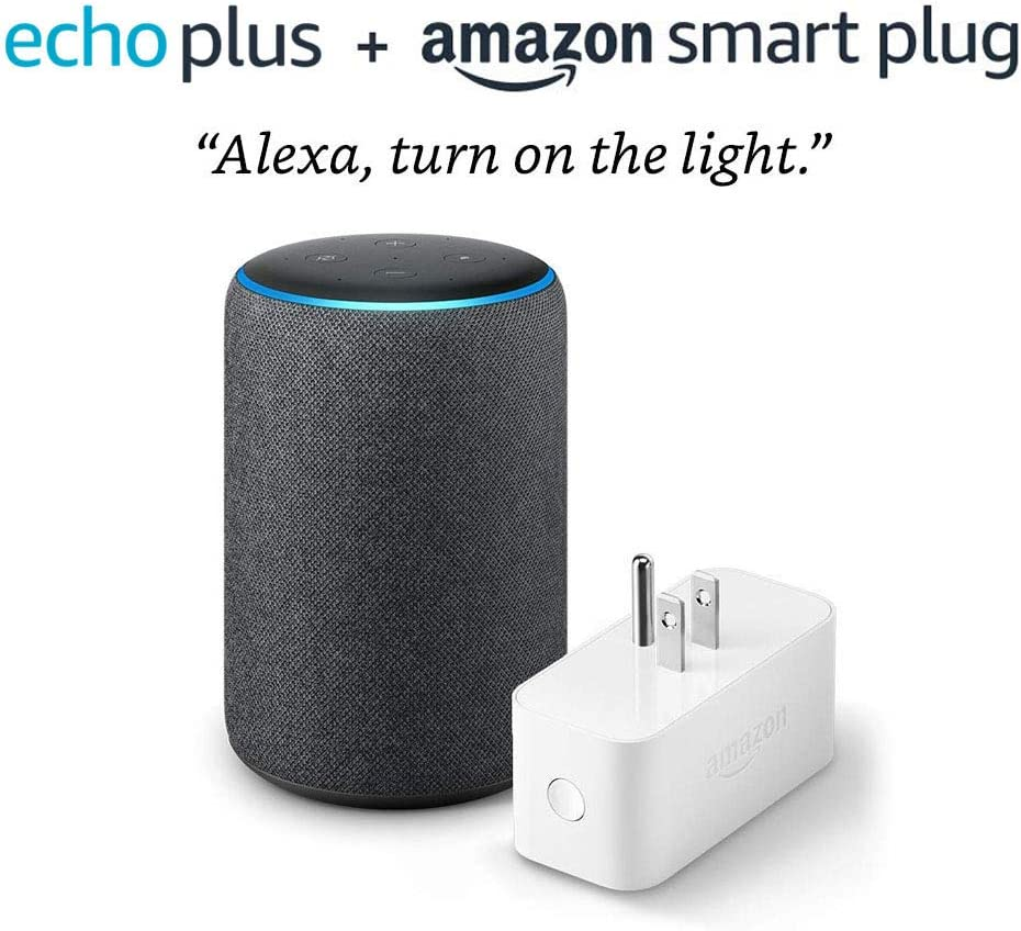 Echo Plus (2nd Generation) with Amazon Smart Plug - Charcoal