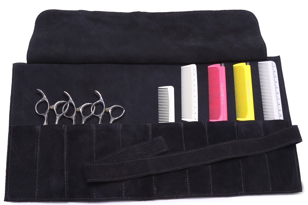 Hair Stylist Scissor Holder Pouch Cases For Hairdressers, Salon Tools Holster Bag, 9 Pockets Perfehair SG004