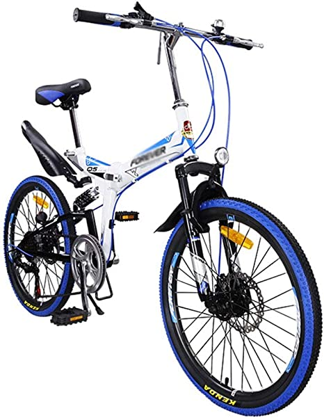 22in bicicleta de montaña plegable for adultos, unisex al aire ...