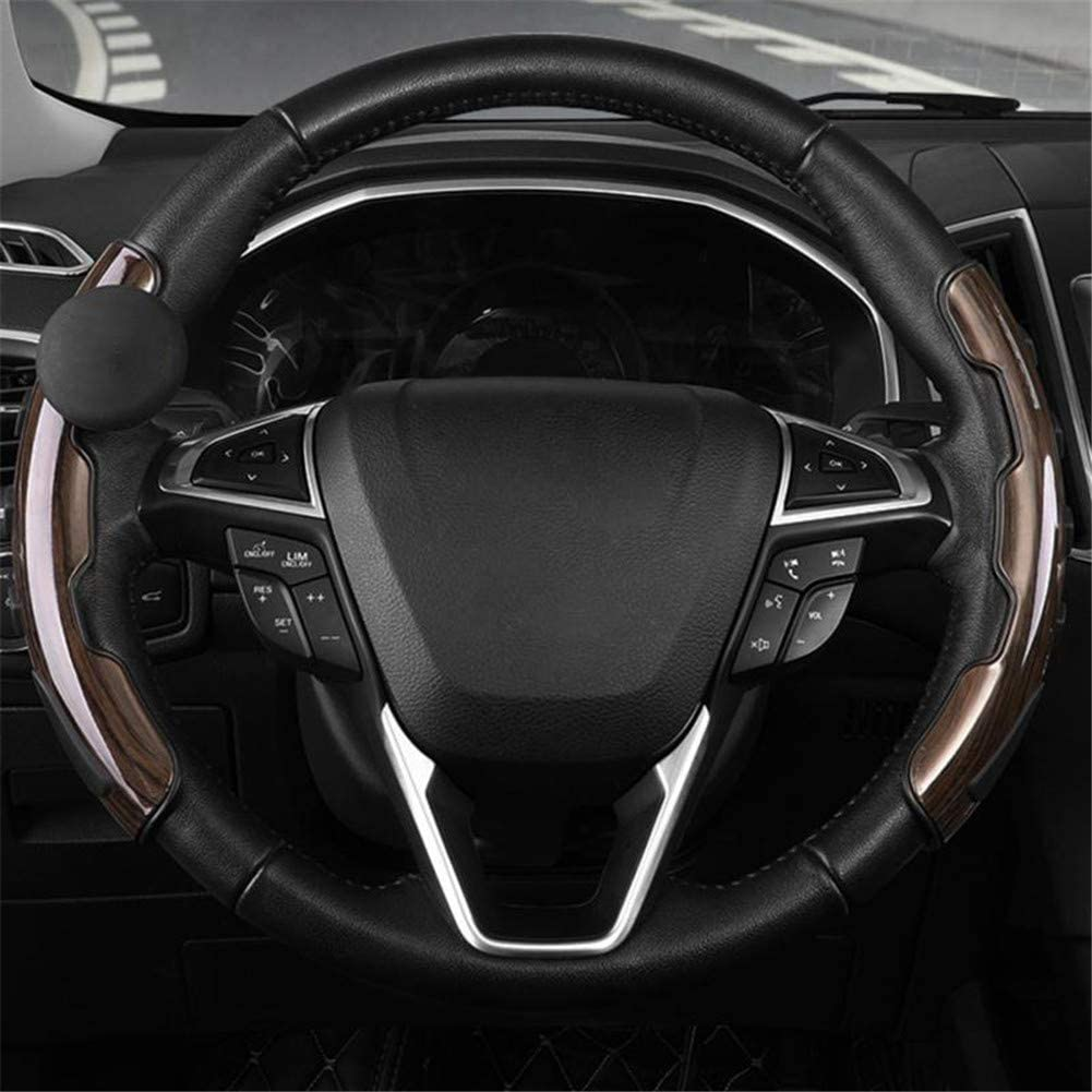 N\ A Steering Wheel Cover with Spinner Universal Car Steering Wheel Booster Handle Auxiliary Tool for Vehicle Car Truck SUV A 360/° Steering Wheel Knob Ball with Plant Balm