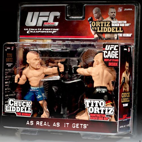 Chuck Fighter Cage (Round 5 UFC Versus Series 1 Action Figure 2Pack Chuck Liddell Vs. Tito Ortiz UFC 47)