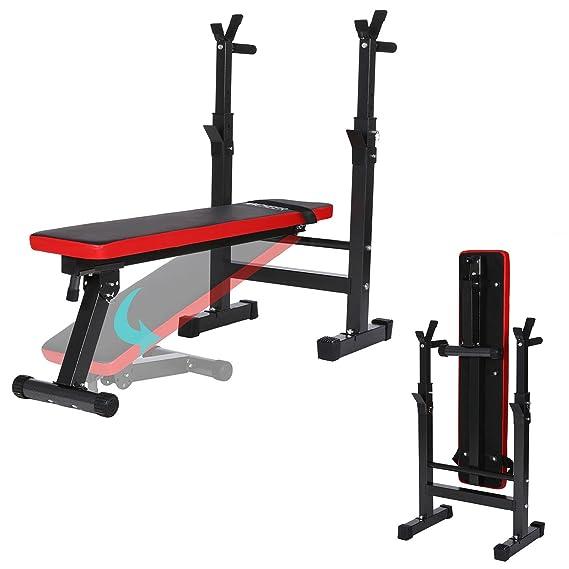 AMDirect Banco de Pesas Plegable Multifunción Altura Regulable Banco de Fitness para Entrenamiento Abdominal en Casa Oficina: Amazon.es: Deportes y aire ...