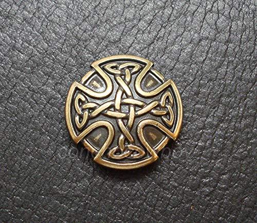 ShopForAllYou Conchos Antique Brass Craft Celtic Cross Concho Horse Saddle Concho 1 inch Screw Back